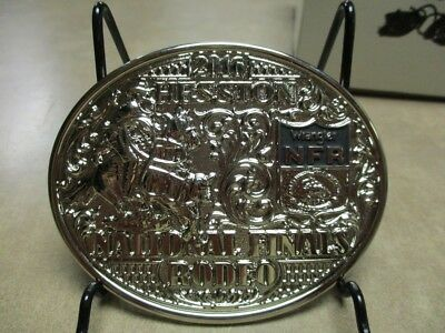 """2016 Hesston National Silver Plated Finals Rodeo """"Adult"""" Belt Buckle"""