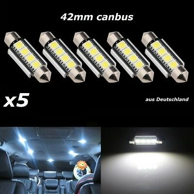LED Canbus Soffitte 42mm 3 5050 SMD weiß Innenraum Soffite Beleuchtung Xenon x5