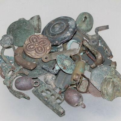 Stunning Lot Of 340 Grams Ancient To Medieval Bronze Artifacts-Ca 1000 Bc-1800 A