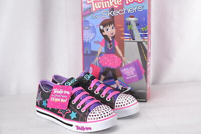 dc947239bed2c Youth Girl's Skechers S Lights Sparkle Glitz Twinklerella Sneakers  Black/Multi