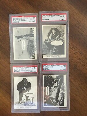 1965 KING KONG Cards Donruss #s 36,37,43,49 (lot Of 4) - All PSA 6s