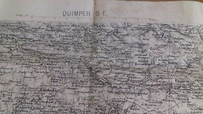 Antique Map Of Quimper Thought To Be From1895