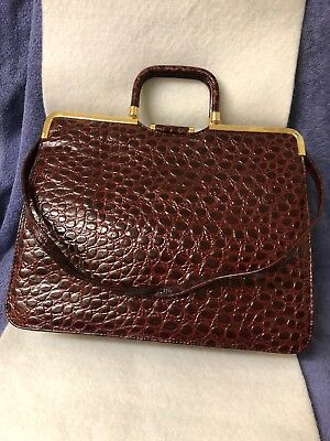 Women's Faux Croc Skin Hand Bag