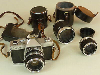 Vintage Kowa SER Camera with extra lenses Parts or Repair B445A