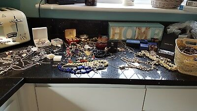 Large Job Lot of Vintage and Modern Jewellery Including a 925 Sterling Silver
