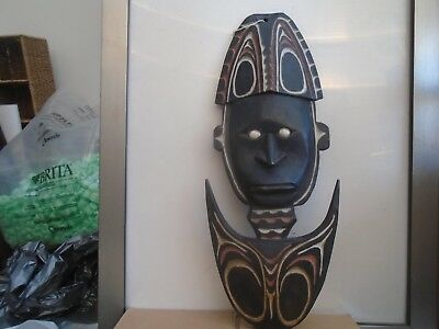 strange large wooden tribal mask   possibly African?   UNUSUAL CLEARANCE FIND