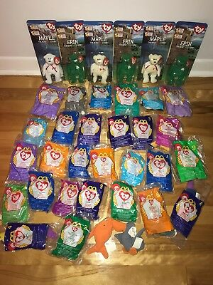 TY Beanie Babies McDonald's Toys LOT Not Mint