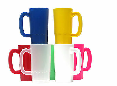 2 Small 14 oz Plastic Mugs your choice of colors