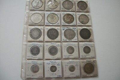 20 old Mexico Reale and Peso Coin Collection 1774 to 1972