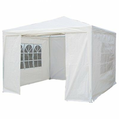NEW! 3m x 3m White Waterproof Garden Gazebo Marquee Awning Party Tent