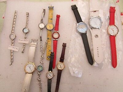 Job lot of 12 working mixed wrist watches.