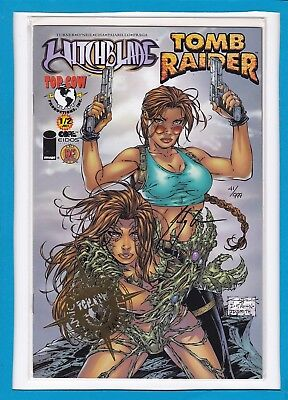 Witchblade/tomb Raider #1/2_Near Mint_Dynamic Forces Exclusive Foil Edition!