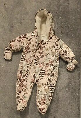 🌸NEXT Baby Girls Snowsuit Pramsuit Age Up To 3 Months Excellent Condition 🌸