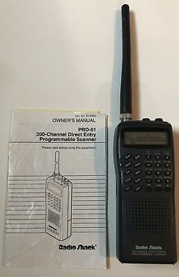 RADIO SHACK 'PRO-51' Handheld 200 Channel Scanner (Model 20-308) Original  Owner