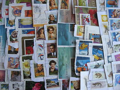 Canada 60 different used ex souvenir sheet stamps on piece, see pictures!