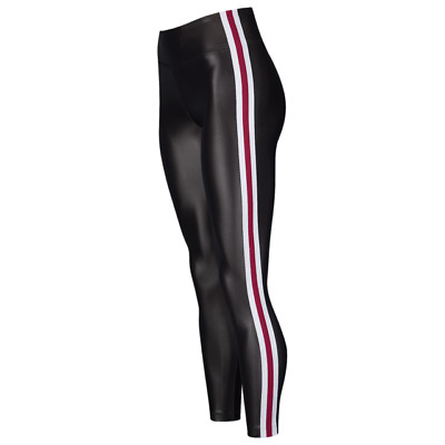 088c6897d48be Koral NWT $106 Trainer Hi Rise Leggings Pants Brown Black Red White Stripe  Sz XS