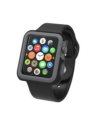 Speck Products CandyShell Fit Case for Apple Watch 42mm, Black/Slate Grey