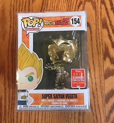 Funko Pop! Dragon Ball Z - Super Saiyan Vegeta Gold Chrome Shared LE + Protector