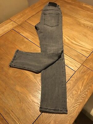Girls Jeans Size 11-12yrs L26.5 By H&M Grey Skinny Stretch Casual