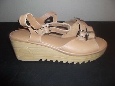 Vintage Cherokee Of California Wedge Sandals Platform 70s 1970s 80s Sz 8 NEW oop