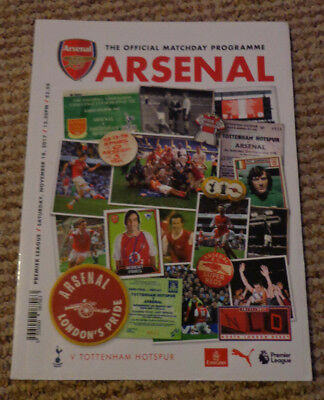Arsenal v Huddersfield Town - Official Matchday Programme - 2017/2018