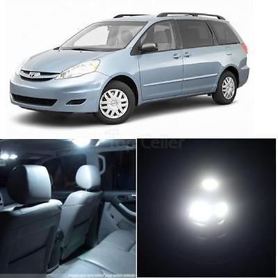 15x White SMD LED Light Interior Bulb Package Deal for 2004-2010 Toyota Sienna