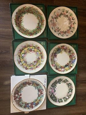 "Lenox Limited Edition Colonial Christmas Wreath Series Plate 10 3/4"" in Box (6)"