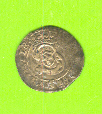 8479 Poland medieval copper counterf. of the period Sigismund III Riga schilling
