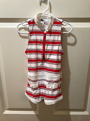 New:  Janie And Jack Girls Red & White Retro One Piece Swimsuit 4t Toddler