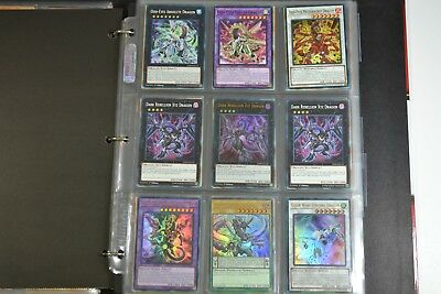 Yugioh Odd-Eyes Dimensional Dragon 3 Lot Deck Collection 54 Cards 6 Holo & Rare