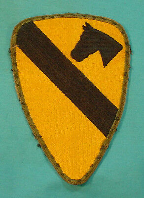 Wwii Us Army Early Greenback Variant Patch First Cavalry 1St Cav