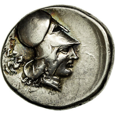 [#652937] Coin, Athena, Stater, Corinth, EF(40-45), Silver
