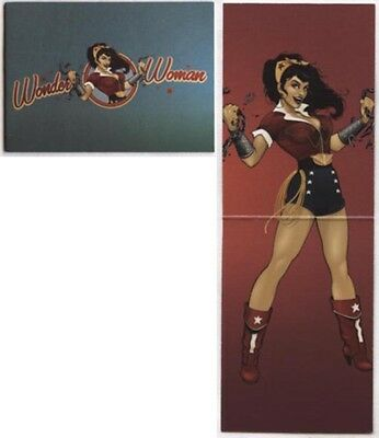 2014 Dc Comics Epic Battles Bombshells>Wonder Woman Bi-Fold Chase Card #b2