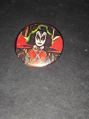 Vintage Gene Simmons Of KISS Button-2 Inch Late 80's