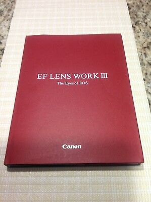 Hardcover Book Photography EF LENS WORK III The Eyes of EOS Canon