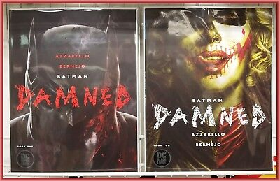 Batman Damned #1 & #2 1St Printing Set Uncensored Panels Harley Quinn Nm