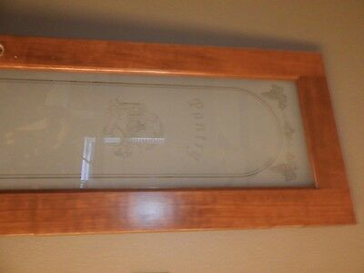glass etched pantry door. used.