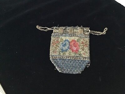 Antique Steel Beaded Purse