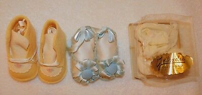 3 pairs of antique vintage BABY SHOES-great condition and 1 set in box!