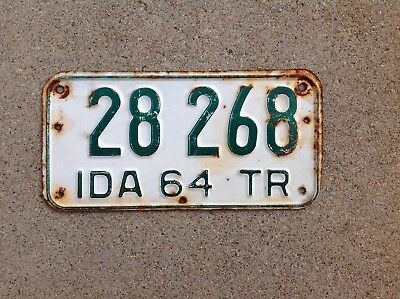 1964 Idaho Trailer License Plate