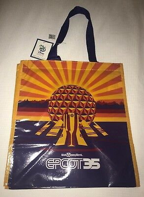 ce3a8b89f9e Disney Epcot 35th Anniversary Reusable Tote Bag - Disney World NEW With Tags