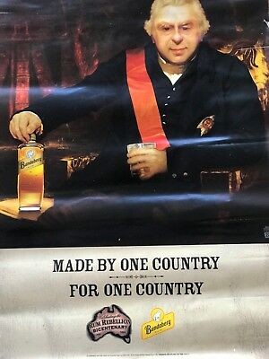 Bundaberg Rum made by One Country for One Country Poster 590mmx 420mm.