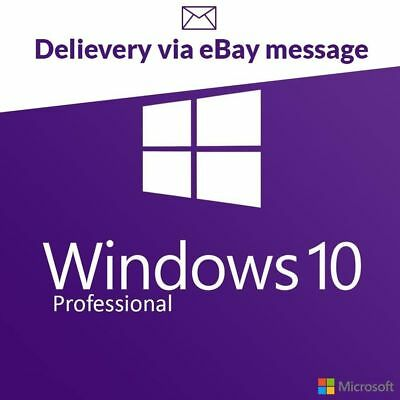 Microsoft Windows 10 Professional Key Win10 Pro Code License Instant Genuine