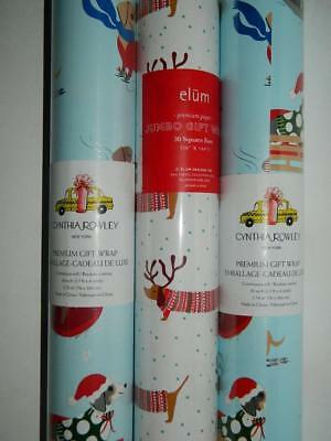 Dachshund Xmas Gift Wrap Wiener Sausage Dog Wrapping Paper 3 Rolls Premium New