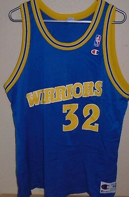 Golden State Warriors Mens 48 Champion Jersey Vintage Joe Smith NBA  Basketball 822fb2e31