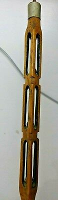 Very Old Carved  Walking Stick With Cut Out Designs - Rare L@@k