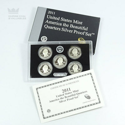 2011 United States Mint America The Beautiful State Quarter Silver Proof Set