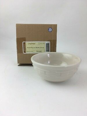 Longaberger Ivory Soup & Salad Bowl 16 oz NIB