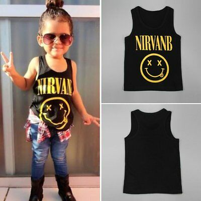 Toddler Kids Baby Boys Girls Cotton Sleeveless Vest T-shirt Casual Tops Clothes