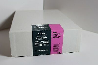 """Ilford Multigrade IV RC DeLuxe Paper, Glossy 5 x 7"""" 500 Sheets New"""